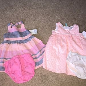 2 new Carter's dresses. 9 month